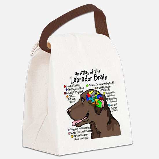choclabbrain1a Canvas Lunch Bag