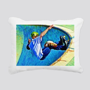 Skateboarding in the Bow Rectangular Canvas Pillow