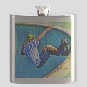 Skateboarding in the Bowl copy Flask