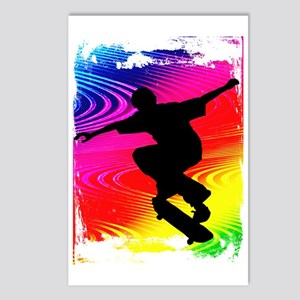 Skateboarding on Rainbow  Postcards (Package of 8)