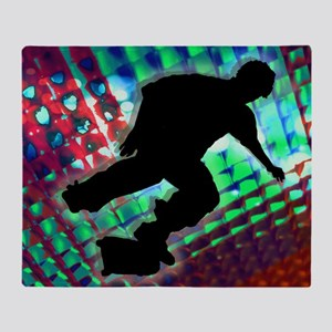 Red Green  Blue Abstract Boxes Skate Throw Blanket