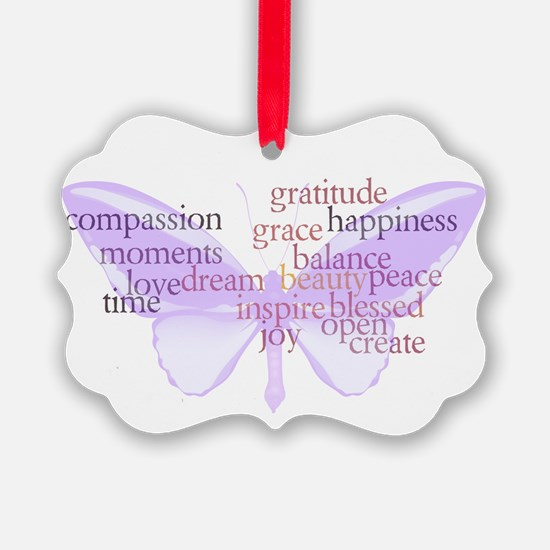 Peace and Gratitude Butterfly Ornament
