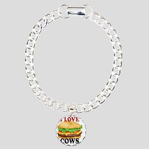 I LOVE COWS Charm Bracelet, One Charm