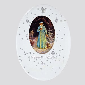 greeting_cards_5.5x5.7_front_016 Oval Ornament