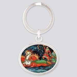 greeting_cards_5.5x5.7_front_009 Oval Keychain