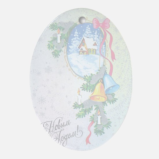 greeting_cards_4.5x6.5_inside_049 Oval Ornament