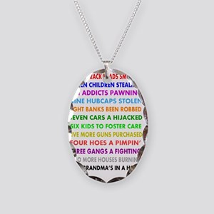 12 DAYS OF CHRISTMAS funny Necklace Oval Charm