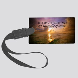 Value and Success Quote on Large Large Luggage Tag