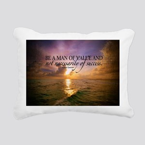Value and Success Quote  Rectangular Canvas Pillow