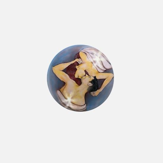 Twinflamekissroundneclace Mini Button