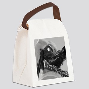 print_doggie_diner_sign_cuimg_293 Canvas Lunch Bag