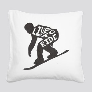 LivetoRide2 Square Canvas Pillow