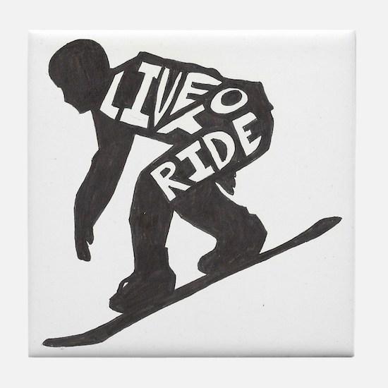 LivetoRide2 Tile Coaster