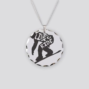 LivetoRide2 Necklace Circle Charm