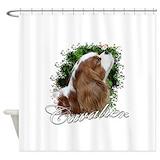 Cavalier king charles spaniel Shower Curtains