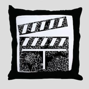 movie distressed Throw Pillow
