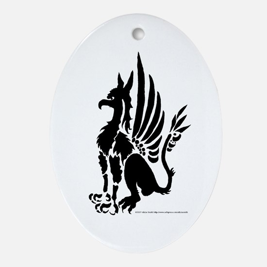 Guardian Gryphon Oval Ornament