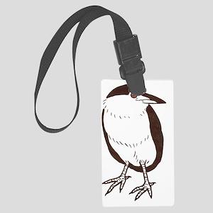 Adorable Bird Heron Large Luggage Tag