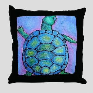 blueturtlemousepad Throw Pillow