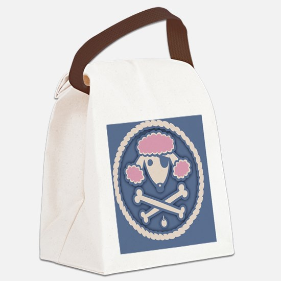 poodle-pir-rope-OV Canvas Lunch Bag