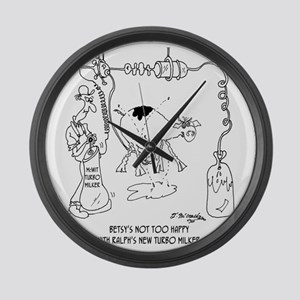 6931_dairy_cartoon Large Wall Clock