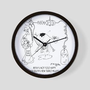 6931_dairy_cartoon Wall Clock
