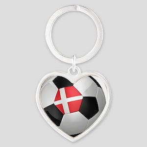 socc_big_denmark Heart Keychain