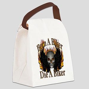 Born A Biker Canvas Lunch Bag