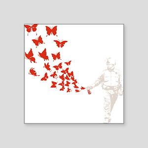 "pike-butterfly-DKT Square Sticker 3"" x 3"""