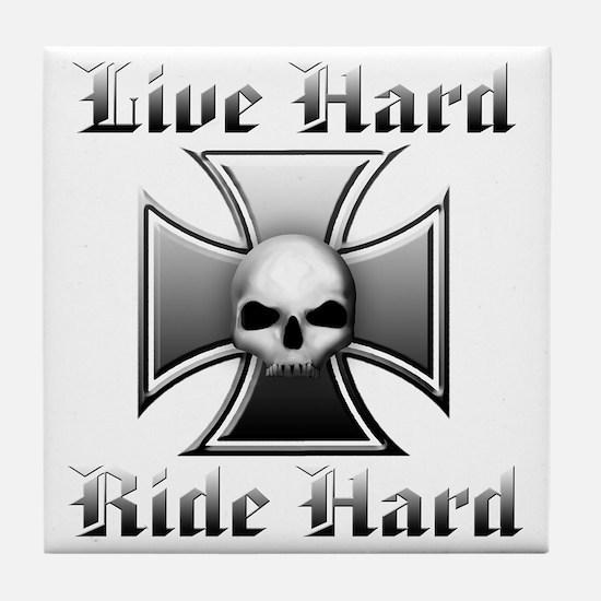 Live Hard Ride Hard Tile Coaster
