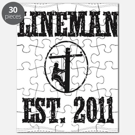 lineman born DASHED Puzzle