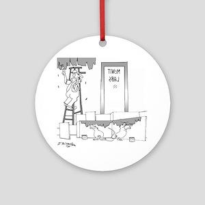 7304_lab_cartoon Round Ornament