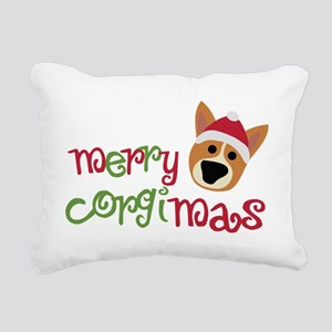 corgimas Rectangular Canvas Pillow