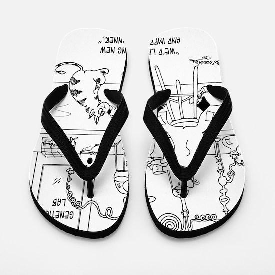 6606_food_processing_toon Flip Flops