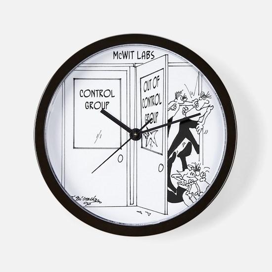 6727_science_cartoon Wall Clock
