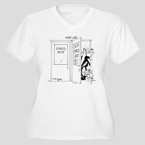 6727_science_cart Women's Plus Size V-Neck T-Shirt