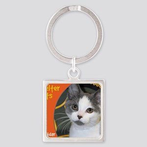 Shelter Cats Square Keychain