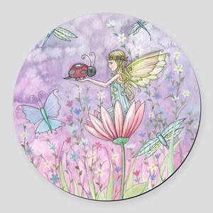 a friendly encounter for pillow Round Car Magnet