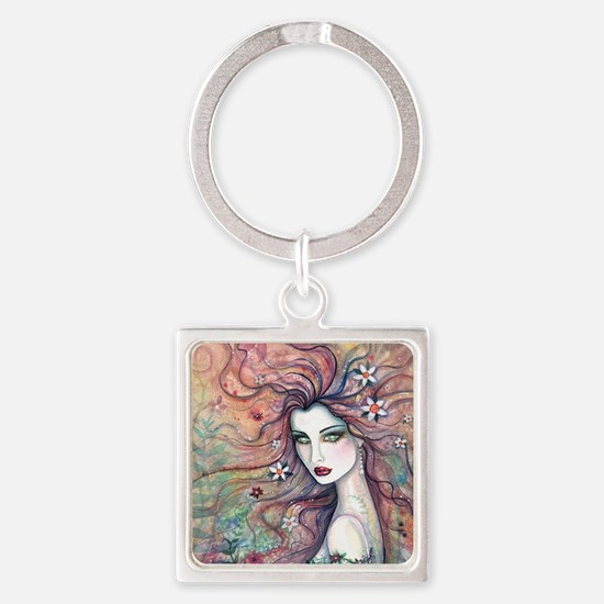 chloris for pillow Square Keychain