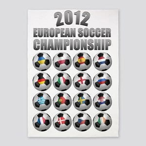 euro_2012_poster_01 5'x7'Area Rug