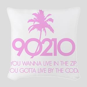 90210Code1D Woven Throw Pillow