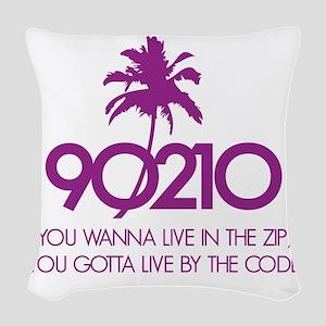 90210Code1E Woven Throw Pillow