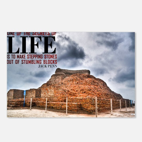 Secrets Of Life Quote on  Postcards (Package of 8)
