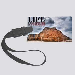 Secrets Of Life Quote on Large F Large Luggage Tag
