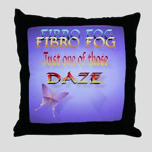 Fibro Fog_mpad Throw Pillow
