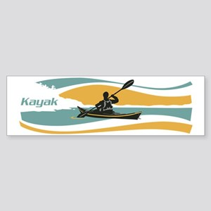 kayak sky Sticker (Bumper)