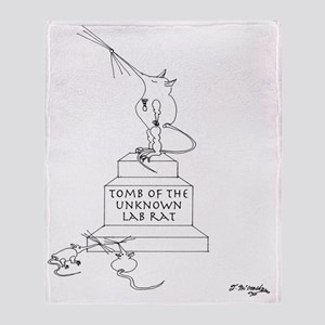0775_lab_cartoon Throw Blanket