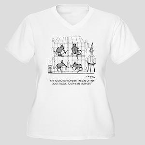 2171_lab_cartoon_ Women's Plus Size V-Neck T-Shirt