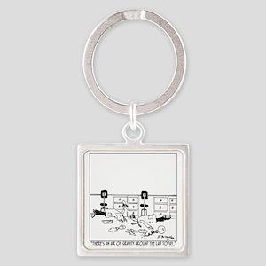 5896_physics_cartoon Square Keychain
