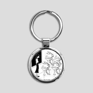 6575_biology_cartoon Round Keychain